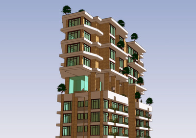 High Rise Apartment Building Design by Architect from Mumbai