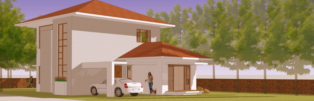 2 Story House Plan | Residential Bungalow Plan | House Plan | Weekend Home  Design | Home Plans   SDM Architects