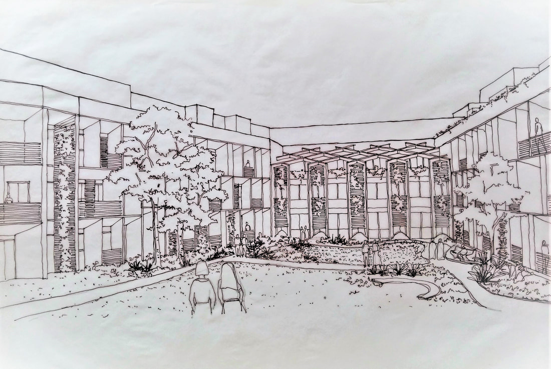 Architectural Sketches by SDM Architects Mumbai for an Institution Project